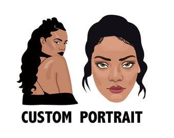 Digital Custom Portrait - custom illustrated digital portraits - Profile picture - Custom digital Avatar - digital drawing