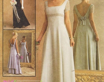90s Alicyn Exclusives Womens Wedding Dress and Bridesmaid Dress McCalls Sewing Pattern 9126 Size 10 12 14 Bust 32 1/2 to 36