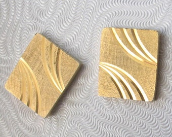 SALE Vintage  Gold Rectangle Cufflinks