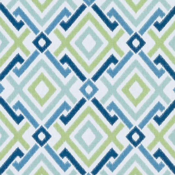 Very best Navy Blue Geometric Upholstery Drapery Fabric by the Yard EO08
