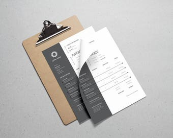 Invoice Template Etsy - Modern invoice template