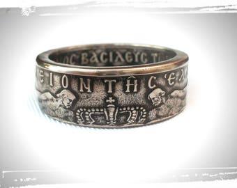Coin Ring Greece - Greek 10 Drachmas - Souvenir - Greece coin ring - ring from the coin of Greece -antique decorations