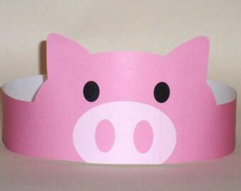 Pig Paper Crown - Printable