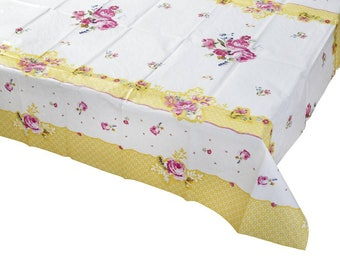 Truly Scrumptious Paper Tablecloth, Vintage Floral Design, Tea Party, Birthday, Baby Shower, Bridal Shower, Wedding, Engagement, Tableware