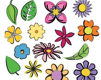 flower garden clipart ladybug clipart bee clipart wasp rh etsy com flower garden clipart black and white flower garden clipart border
