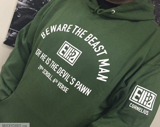 """Planet of the Apes - """"Beware the Beast Man..."""" Sweatshirt in Military Green"""