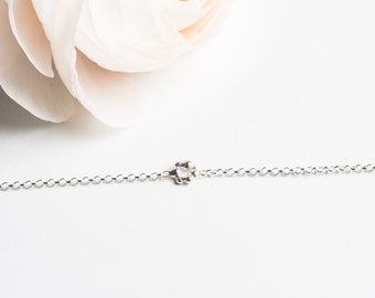 Galileo, delicate bracelet in sterling silver, minimalist circle jewelry simple and lightweight, adjustable, 2 sizes, handmade by myself