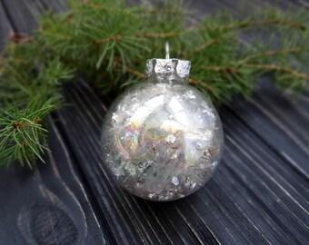 Fairy dust dandelion seeds christmas ornaments handmade christmas decorations glass christmas ornaments gold silver christmas balls baubles