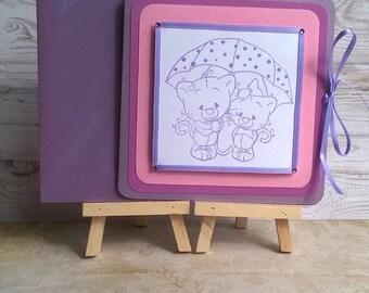 "Card child ""Purple kittens"""