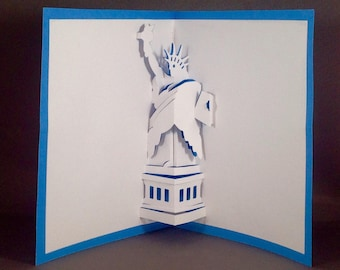 Statue of Liberty 3D Pop Up Cards | Lady Liberty Card New York City Cards | New York Card | Nyc Card Pop Up Card 3D Card Architecture Cards