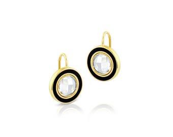 Topaz & Enamel Drop Earrings