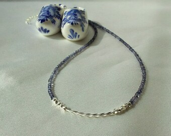 Iolite and Sterling Necklace