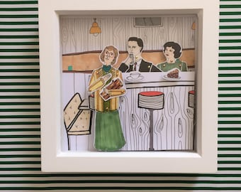 Twin Peaks print. Perfect present for David Lynch fans. All framed work is signed and wrapped ready for gifting. Wall art.