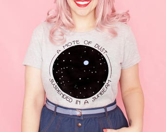Pale blue dot women's t-shirt