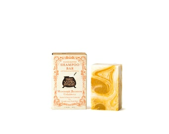 Mandarin Blossom and Calendula Shampoo Bar - 1.75 oz. - Sleek & Smooth Complex for Straight Thick Hair