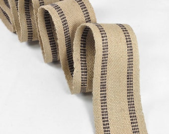 Black Jute Webbing - by the Yard