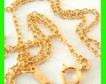 """14k yellow Gold Filled 2mm x 1.5mm cable Chain Necklace  16"""" 18"""" 20"""" inches made in USA"""