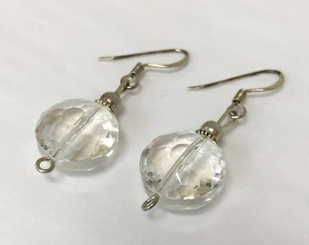 Round Crystal Iridescent Earrings