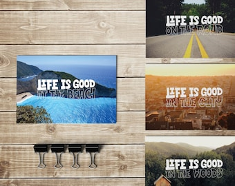 Postcards: set of 4, Life is good