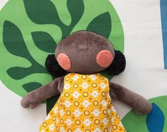 Rosie – black doll soft toy