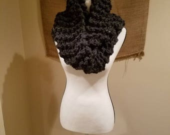 Hand knitted chunky scarf