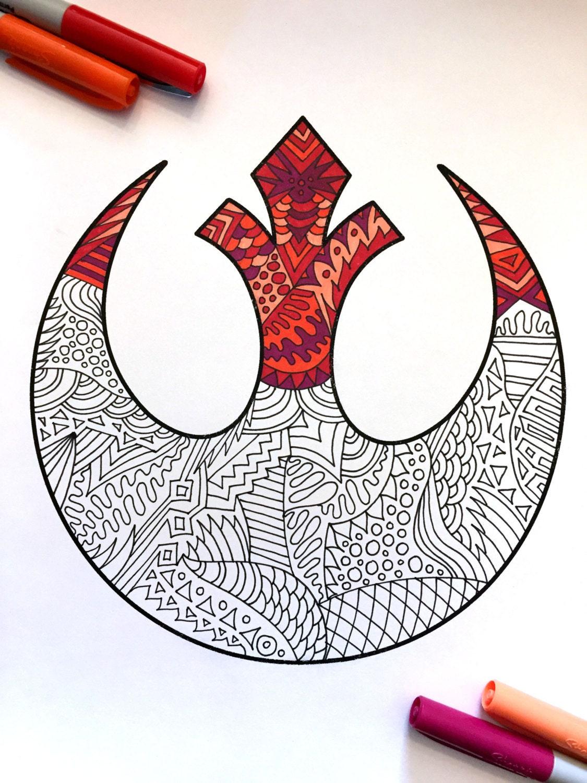 Etsy へようこそ!Etsy へようこそ!Etsy のプライバシー設定            Rebel Alliance Star Wars Symbol - PDF Zentangle Coloring Page        設定を更新する