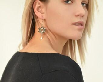 Rock'n'Rollish Steel-and-Silver Earrings / Punk Earrings / Spiky Earrings / Steel Earrings / Statement Earrings / Fun Earrings