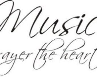 Music is a Prayer the Heart Sings vinyl decal
