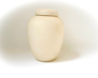 Ceramic Pet Urn, Cat or Dog or any animal, Hand made -7 inches tall, parchment technique