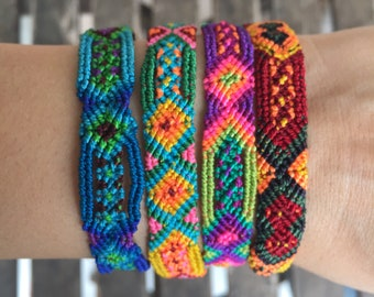 Beautiful knotted colourful bracelet