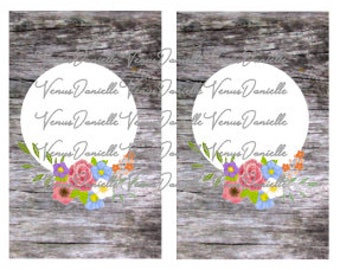 Digital Cover~ Wooden Floral Pocket TN Cover, Printable Pocket Cover, Wood, Floral, Printable Cover, Printable Dashboard
