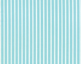 Daysail Stripe in Aqua Fabric by Bonnie and Camille for Moda Fabrics