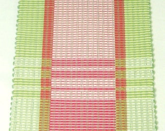Hand woven Table Runner, cotton