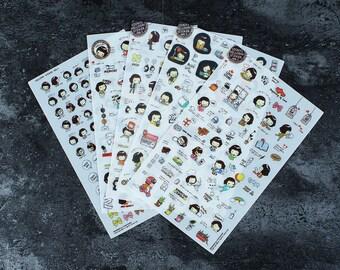 Helloday sticker set ver 3 - Masking sticker set - Diary sticker -Deco sticker set - 5 sheets - SM90229