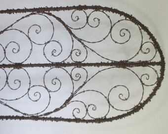 Elegant Spirilian Barbed Wire Trellis  Made to Order