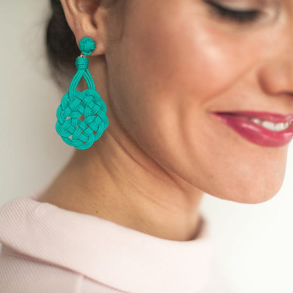 Eternal Knot Earrings // Sz Sm // Holiday Outfit Holiday Jewelry Girlfriend Gift For Her Mom Aunt Gift Clothing Gift Fall Gift Preppy Trends