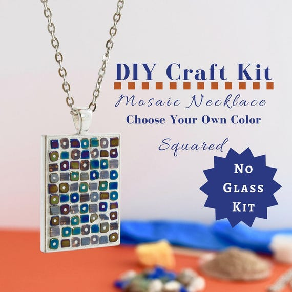 Do it yourself necklace making kit mosaic necklace diy kit gift for do it yourself necklace making kit mosaic necklace diy kit gift for kids gifts under 15 necklace craft kit party crafts crafty kits 4 u from solutioingenieria Images