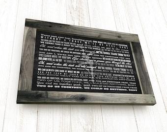 Dave matthews lyrics framed lyrics sign dmb wall art custom lyrics sign framed or dave matthews lyrics you and me pick any song lyrics stopboris Choice Image