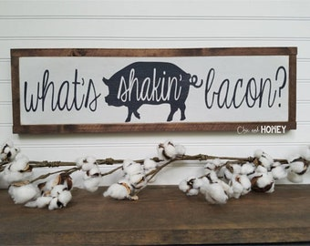 Bacon Sign - Wood Sign - Wooden Sign - Farmhouse Style - Kitchen Sign - Farmhouse Sign - Rustic Sign - Farmhouse - Country Decor
