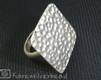 THAI KAREN HILL TRIBE HANDMADE HAMERED SILVER RING z, 6