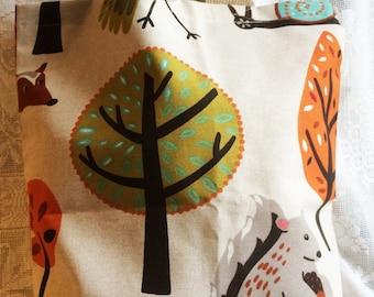 Fabric Tote Shopping Bag - Woodland