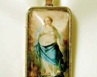 Immaculate conception pendant with chain - AP16-024