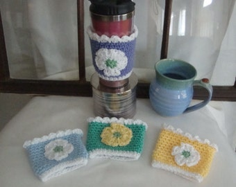 Coffee Cozy - Crochet Coffee Cozy - Cup Cozy - Coffee Sleeve - Crochet Coffee Sleeve - Cup Sleeve - Crochet Cup Sleeve