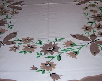 Vintage butterflies and flowers tablelcloth