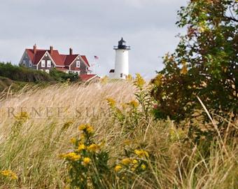 New England Series--Nobska Point Lighthouse, Wood's Hole, Cape Cod, Massachusetts, 8x10 Color Photograph