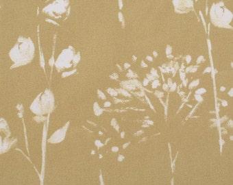 Mid Century Modern Custom Curtains // Blinds // Blackout Lined Retro // Made to Measure // Botanical Vintage // Ochre Mustard // Panel Rod