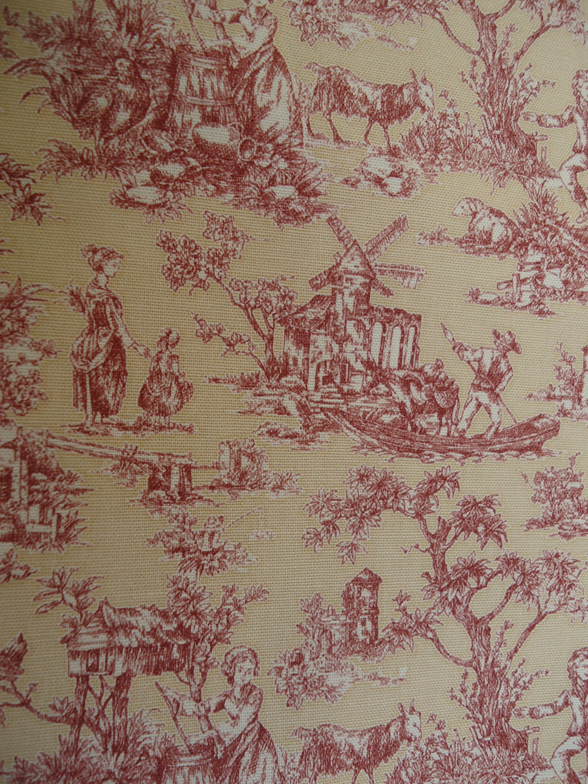 French Country MILL CREEK Fabric, TOILE \