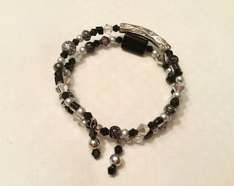 """Handcrafted Coil Bracelet """"Midnight Stroll"""""""