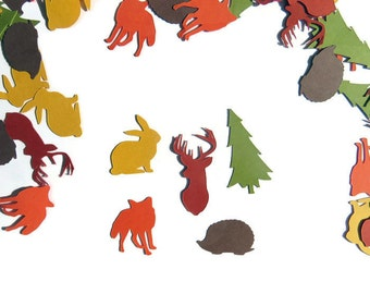 Forest Animals Confetti, Set of Approx. 200