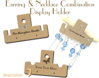 Jewelry Display, Necklace and Earring Holder, Necklace and Earring Display, Perforated Fold Tags, Jewelry Holder, Display, Hang Tags